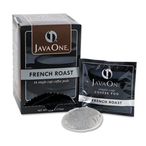 (JAV30800)JAV 30800 – Coffee Pods, French Roast, Single Cup, 14/Box by JAVA TRADING CO. (14/BX)