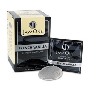 (JAV70400)JAV 70400 – Coffee Pods, French Vanilla, Single Cup, 14/Box by JAVA TRADING CO. (14/BX)