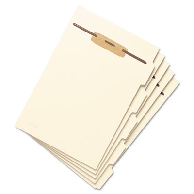 (SMD35605)SMD 35605 – Stackable Folder Dividers w/ Fasteners, 1/5-Cut Top Tab, Letter Size, Manila, 50/Pack by SMEAD MANUFACTURING CO. (50/PK)