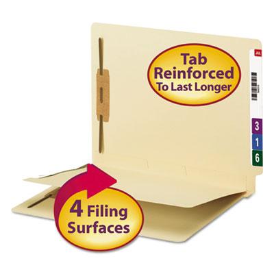 (SMD34220)SMD 34220 – Fastener Folder w/ Divider, 1 Divider, Letter Size, Manila, 50/Box by SMEAD MANUFACTURING CO. (50/BX)
