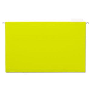 (UNV14219)UNV 14219 – Deluxe Bright Color Hanging File Folders, Legal Size, 1/5-Cut Tab, Yellow, 25/Box by UNIVERSAL OFFICE PRODUCTS (25/BX)