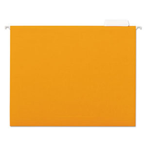 (UNV14122)UNV 14122 – Deluxe Bright Color Hanging File Folders, Letter Size, 1/5-Cut Tab, Orange, 25/Box by UNIVERSAL OFFICE PRODUCTS (/)