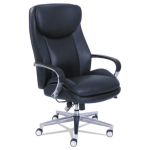 (LZB48956)LZB 48956 – Commercial 2000 Big and Tall Executive Chair with Dynamic Lumbar Support, Up to 400 lbs., Black Seat/Back, Silver Base by LA-Z-BOY CHAIR COMPANY (1/EA)