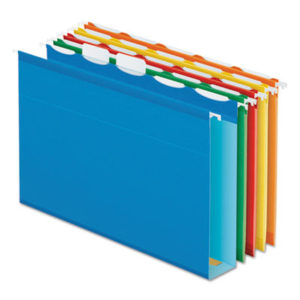 (PFX42700)PFX 42700 – Ready-Tab Extra Capacity Reinforced Colored Hanging Folders, Letter Size, 1/5-Cut Tab, Assorted, 20/Box by TOPS BUSINESS FORMS (20/BX)