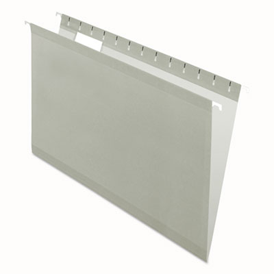 (PFX415315GRA)PFX 415315GRA – Colored Reinforced Hanging Folders, Legal Size, 1/5-Cut Tab, Gray, 25/Box by TOPS BUSINESS FORMS (25/BX)