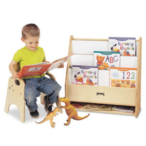 (JNT0071JC)JNT 0071JC – Toddler Pick-a-Book Stand, 24w x 9d x 25h, Birch by JONTI-CRAFT, INC. (1/EA)