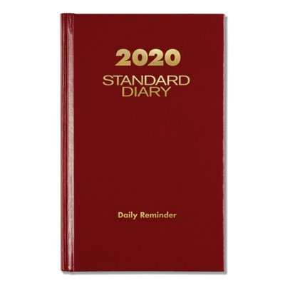 (AAGSD38513)AAG SD38513 – Standard Diary Recycled Daily Reminder, Red, 6 5/8 x 4 1/8, 2020 by AT-A-GLANCE (1/EA)