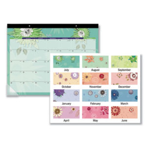(AAG5035)AAG 5035 – Paper Flowers Desk Pad, 22 x 17, 2020 by AT-A-GLANCE (1/EA)