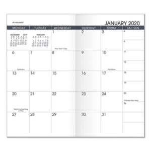 (AAG7090610)AAG 7090610 – Pocket Size Monthly Planner Refill, 6 1/8 x 3 1/2, White, 2020-2021 by AT-A-GLANCE (/)