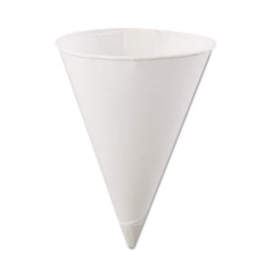 (KCI45KR)KCI 45KR – Rolled Rim Paper Cone Cups, 4.5oz, White, 200/Bag, 25 Bags/Carton by KONIE CUPS INTERNATIONAL (5000/CT)