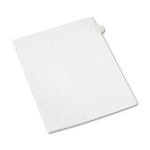 (AVE82202)AVE 82202 – Preprinted Legal Exhibit Side Tab Index Dividers, Allstate Style, 10-Tab, 4, 11 x 8.5, White, 25/Pack by AVERY PRODUCTS CORPORATION (25/PK)