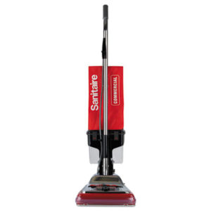 """(EUR887D)EUR 887D – TRADITION Upright Vacuum with Dust Cup, 7 Amp, 12"""" Path, Red/Steel by ELECTROLUX FLOOR CARE COMPANY (1/EA)"""