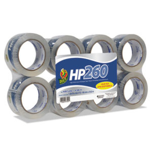 "(DUC0007424)DUC 0007424 – HP260 Packaging Tape, 3"" Core, 1.88"" x 60 yds, Clear, 8/Pack by SHURTECH (8/PK)"