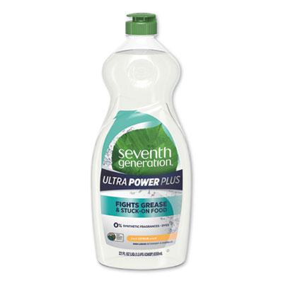 (SEV22928)SEV 22928 – Natural Dishwashing Liquid, Ultra Power Plus, Fresh Citrus, 22 oz Bottle by SEVENTH GENERATION (1/EA)