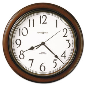 """(MIL625417)MIL 625417 – Talon Auto Daylight-Savings Wall Clock, 15.25"""" Overall Diameter, Cherry Case, 1 AA (sold separately) by HOWARD MILLER CLOCK CO. (1/EA)"""