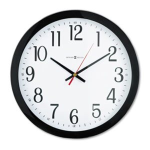 """(MIL625166)MIL 625166 – Gallery Wall Clock, 16"""" Overall Diameter, Black Case, 1 AA (sold separately) by HOWARD MILLER CLOCK CO. (1/EA)"""