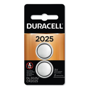 (DURDL2025B2PK)DUR DL2025B2PK – Lithium Coin Battery, 2025, 2/Pack by DURACELL PRODUCTS COMPANY (2/PK)