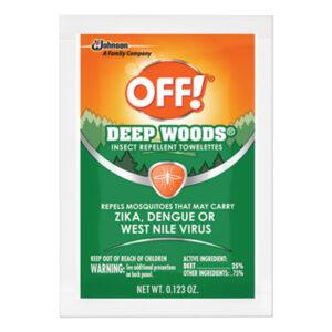 (SJN611072BX)SJN 611072BX – Deep Woods Towelette, 0.28 Box, Unscented, 12/Box by SC JOHNSON (12/BX)