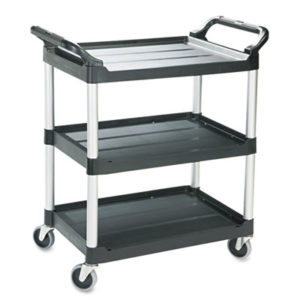 (RCP342488BLA)RCP 342488BLA – Economy Plastic Cart, Three-Shelf, 18.63w x 33.63d x 37.75h, Black by RUBBERMAID COMMERCIAL PROD. (1/EA)