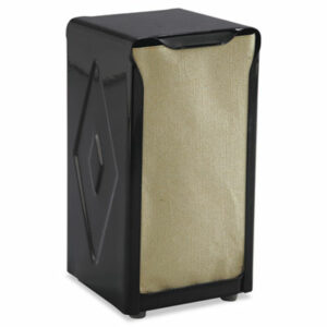 (SJMH900BK)SJM H900BK – Tabletop Napkin Dispenser, Tall Fold, 3 3/4 x 4 x 7 1/2, Capacity: 150, Black by CFS BRANDS (1/EA)