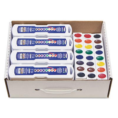 (DIX08020)DIX 08020 – Professional Watercolor Master Pack: 24 Eight-Color Palette Sets and 12 Eight-Color Refill Strips, Assorted Colors by DIXON TICONDEROGA CO. (36/PK)
