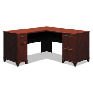 """(BSH2930CSA103)BSH 2930CSA103 – Enterprise Collection L-Desk Pedestal, 60"""" x 60"""" x 29.75"""", Harvest Cherry, (Box 1 of 2) by BUSH INDUSTRIES (1/EA)"""