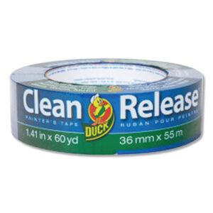 """(DUC284373)DUC 284373 – Clean Release Painter's Tape, 3"""" Core, 1.41"""" x 60 yds, Blue, 16/Pack by SHURTECH (16/PK)"""