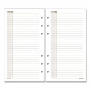 (AAG013200)AAG 013200 – Lined Notes Pages, 6.75 x 3.75, White, 30/Pack by AT-A-GLANCE (1/EA)
