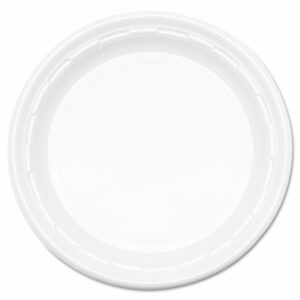 """(DCC9PWF)DCC 9PWF – Famous Service Plastic Dinnerware, Plate, 9"""", White, 125/Pack, 4 Packs/Carton by DART (500/CT)"""