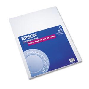 (EPSS041171)EPS S041171 – Matte Presentation Paper, 4.9 mil, 17 x 22, Matte Bright White, 100/Pack by EPSON AMERICA, INC. (100/PK)