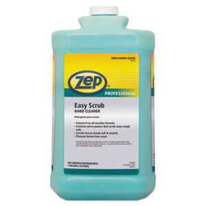(ZPP1049470)ZPP 1049470 – Industrial Hand Cleaner, Easy Scrub, Lemon, 1 gal Bottle with Pump, 4/Carton by ZEP INC. (4/CT)