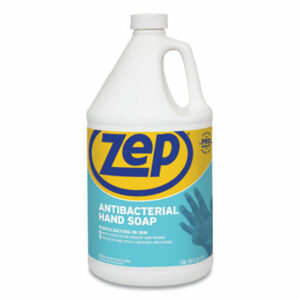 (ZPPR46124)ZPP R46124 – Antibacterial Hand Soap, Fragrance-Free, 1 gal Bottle, 4/Carton by ZEP INC. (4/CT)