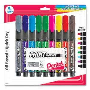 (PENMMP20BP9M)PEN MMP20BP9M – Opaque Bullet Tip Paint Markers, Medium Bullet Tip, Assorted Colors, 9/Pack by PENTEL OF AMERICA (9/PK)